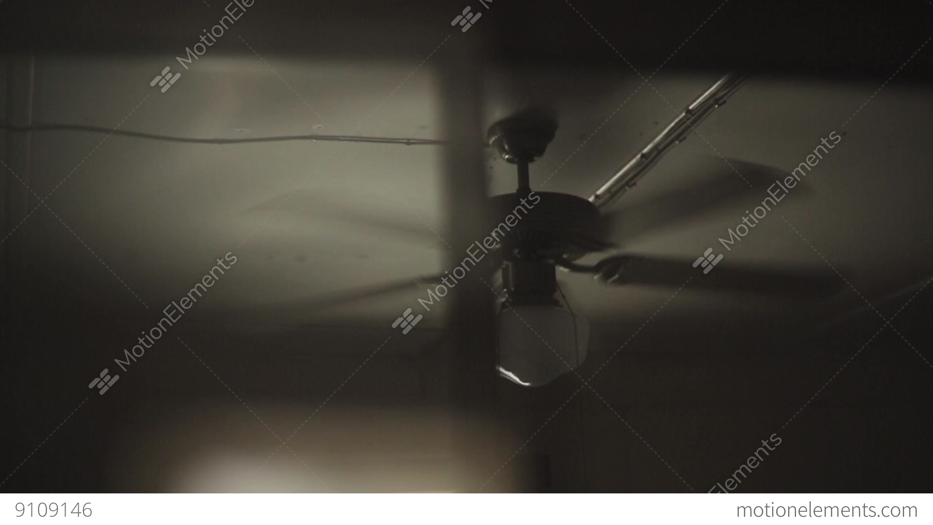 Retro Ceiling Fan Ceiling Frame Stock video footage