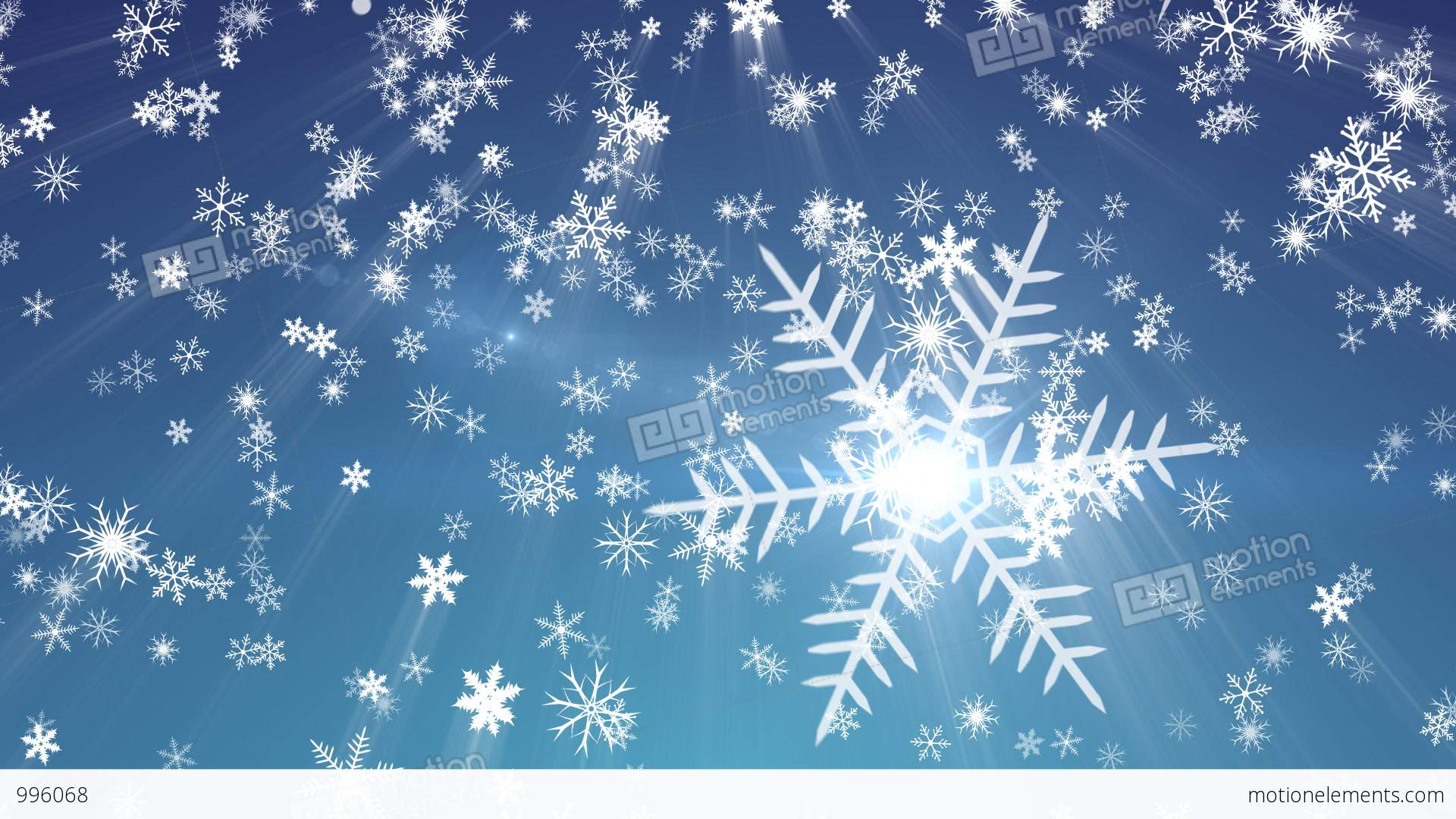 Snowy 1 - Snow / Christmas Video Background Loop Stock ...