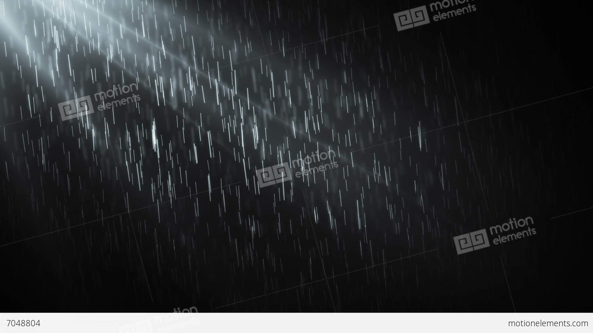 night rain hd 2 stock animation 7048804
