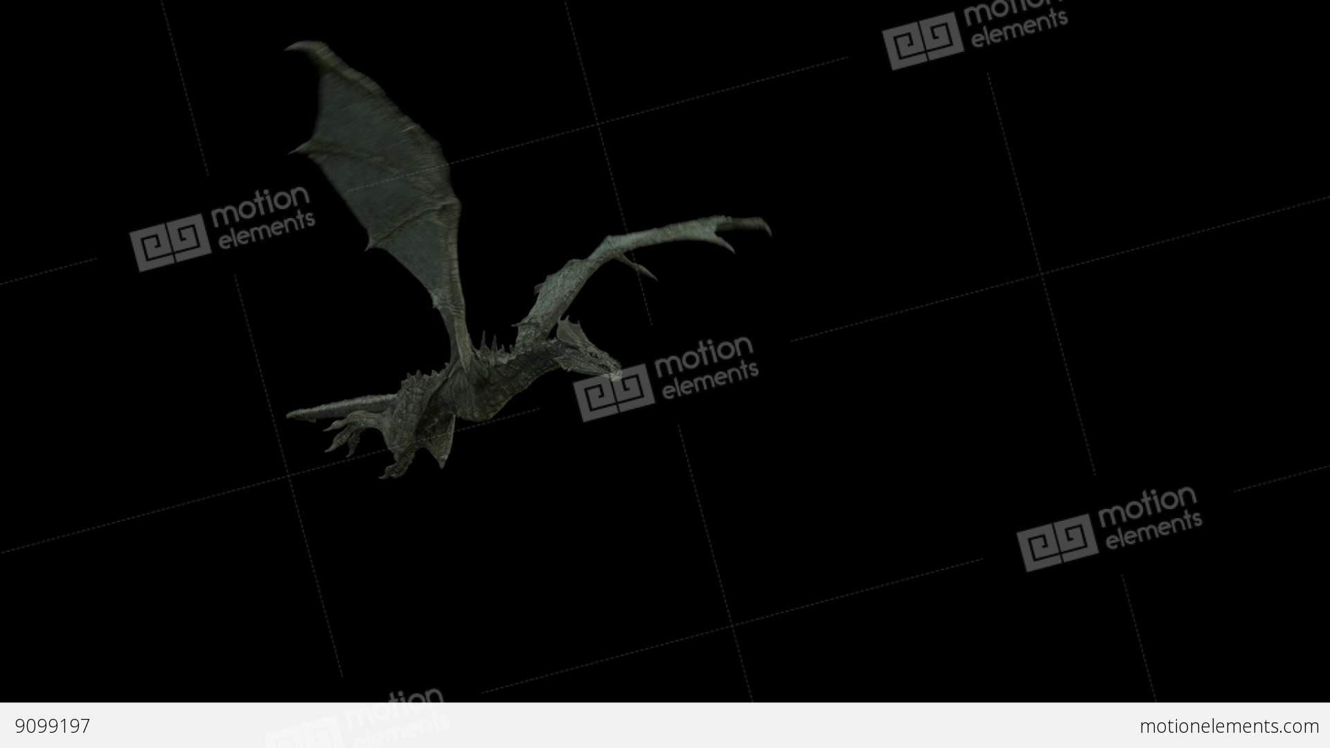 Realistic Dragon Flying And Breathing Fire. Looped Clip ...
