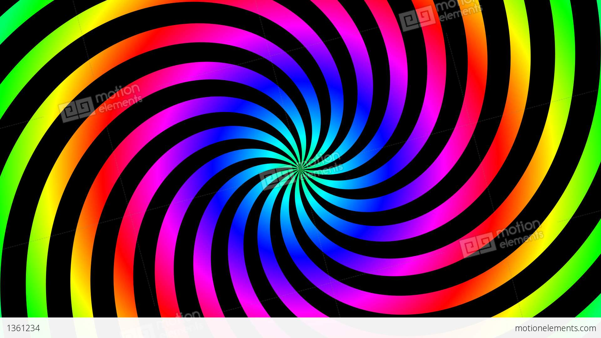 Twist Color Hypnotize Stock Animation