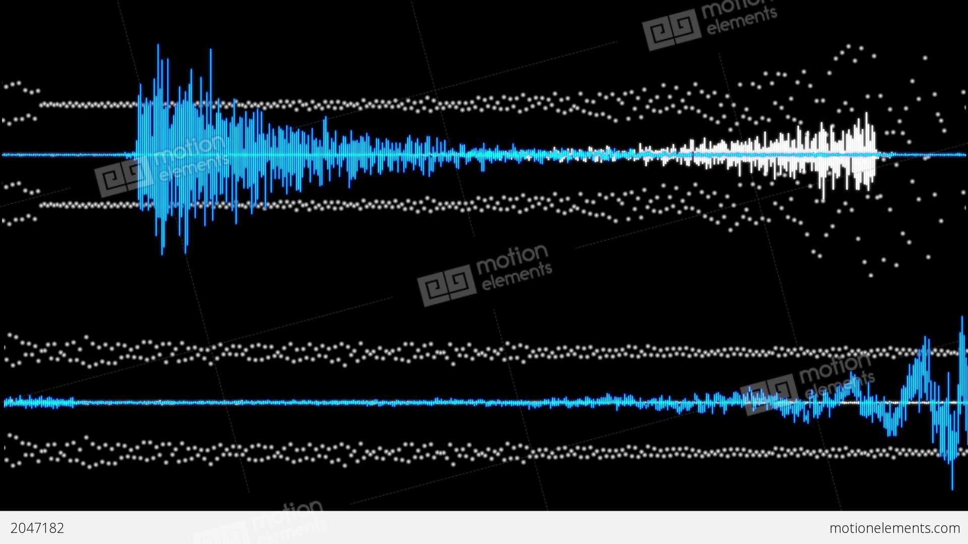 3d Sound Waves Spectrum Background Stock Illustration ...  |3d Audio Waveform