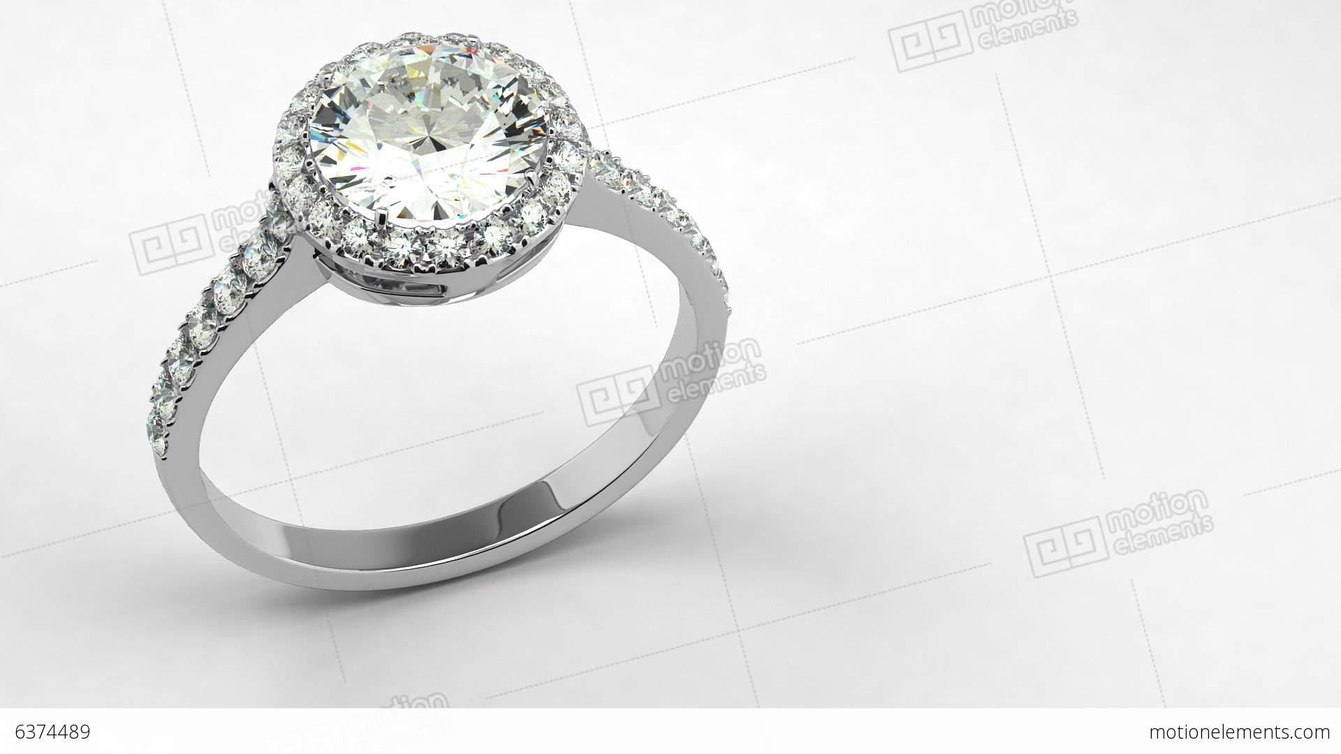 Precious Diamond Ring Stock Animation 6374489